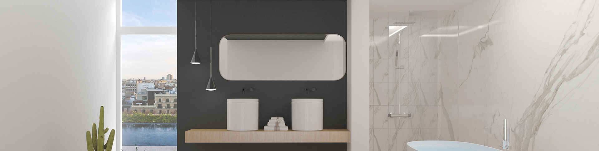 1000mm Bathroom Mirror