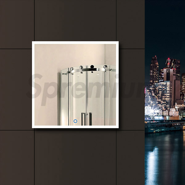 S-4604 Square Led Bathroom Mirror with Touch Switch On and Off