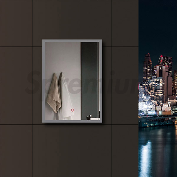 S-4605 LED Illuminated Bathroom Mirror with Touch Switch On and Off