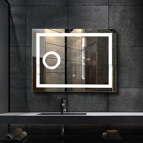 S 3602 Modern Led Bath Mirror With Magnifier ...