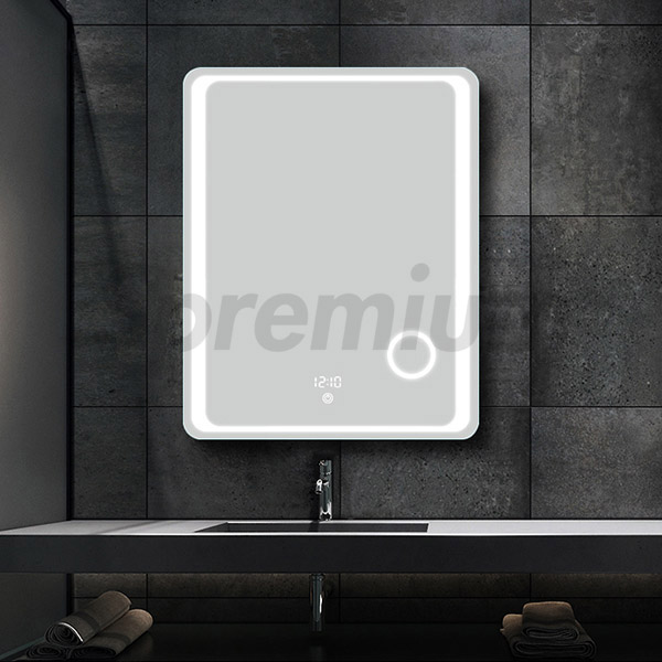 S-3604 Illuminated Magnifying Mirror Wall Mounted for Bathroom Use