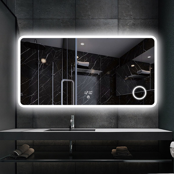 S 3609 Frameless Large Lighted Mirrors