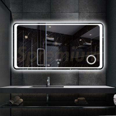 S-3611 Large Led Bathroom Mirror with Integrated Magnifier