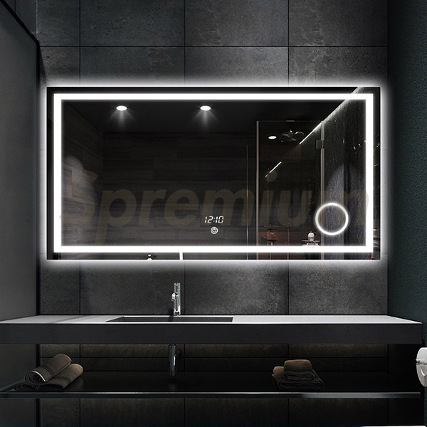 Superieur S 3614 48 Inch Wide Bathroom Mirror With Lights And Magnifier