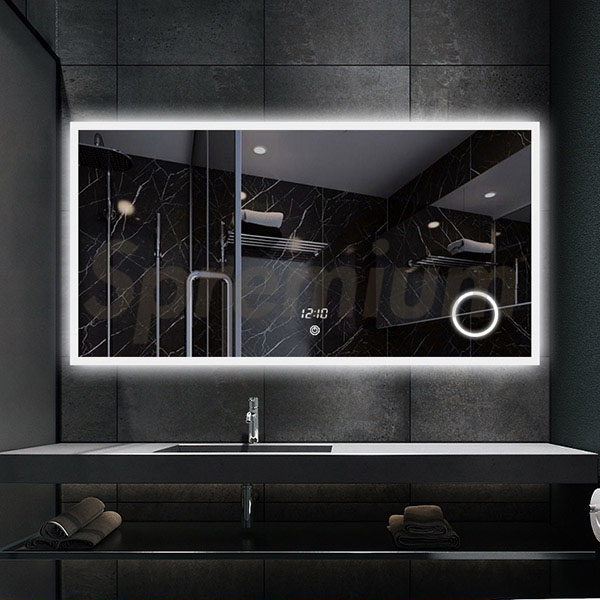 S-3615 China Bathroom Vanity Mirror with Led Lights and Magnifier