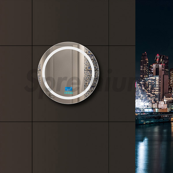 S-2611 Round Bluetooth Bathroom Mirror with Led lighting