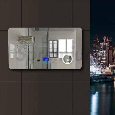 S-2608 Modern Bathroom Wall Mirror with Lights and Bluetooth