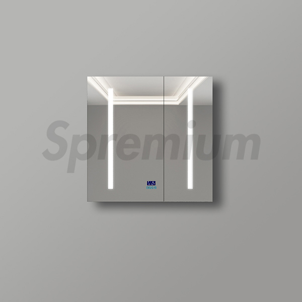 S-1600 Frameless Illuminated Mirror Cabinet with Mirror Defogger and Bluetooth