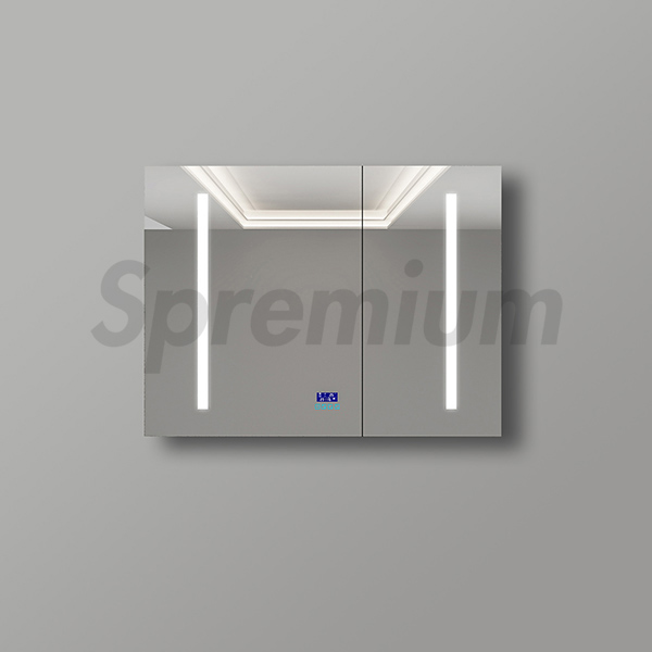 S-1601 Frameless Recessed Led Mirror Cabinet in Plywood