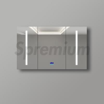 S-1602 Contemporary Illuminated Bathroom Mirror Cabinet with Defogger and Bluetooth