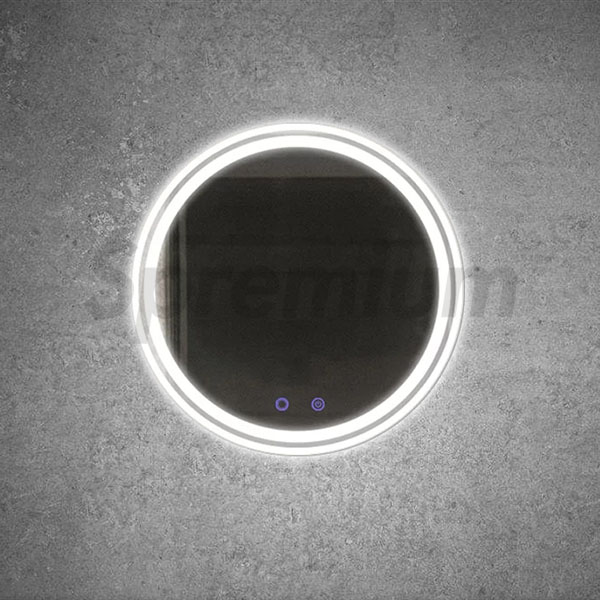 S-3251 Circle Bathroom Mirror with LED Lights and Demister