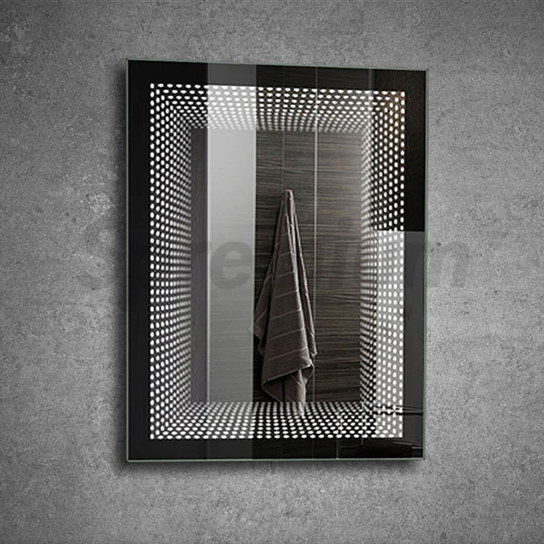 S-2101 Rectangular Bathroom Infinity Wall Mirror