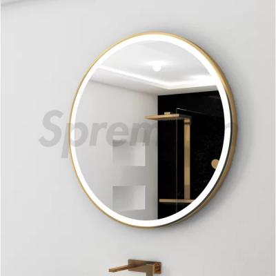 S-4648 Cooper Free Circle LED Bathroom Mirror with Aluminium Frame