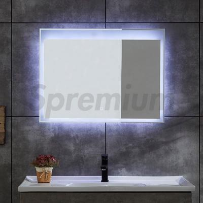 S-4622 Wall Hung Rectangular LED Bath Mirror with Lights Around