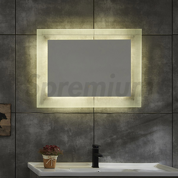 S-4616 Modern Wall Hung Bathroom Mirror Design with LED Lights-copy-1585036033