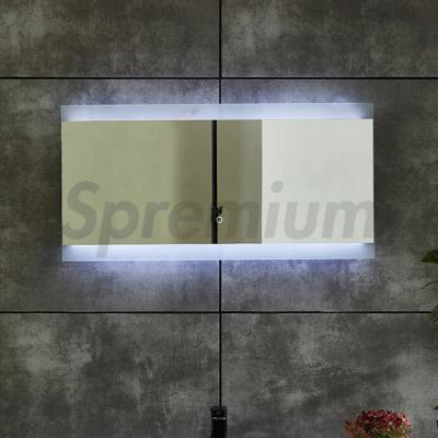 S-4623 Hot Sale Backlit Bathroom Mirror with LED Strips on Top and Bottom
