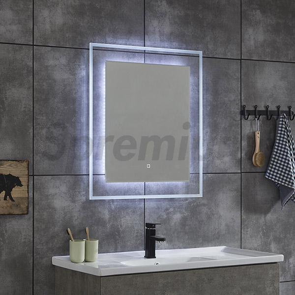 S-4624 Transparent LED Backlit Bathroom Mirror with CE Certificate