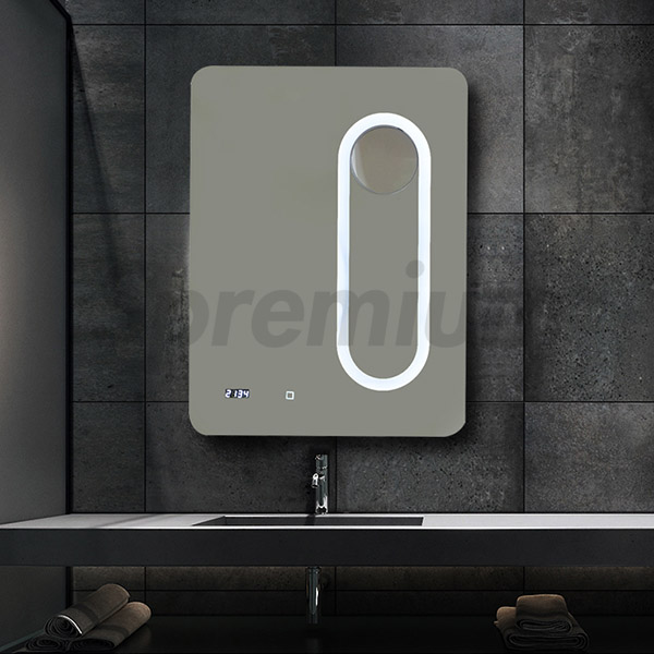 S-3517 Bathroom Wall Mounted Magnifying Mirror with LED lights