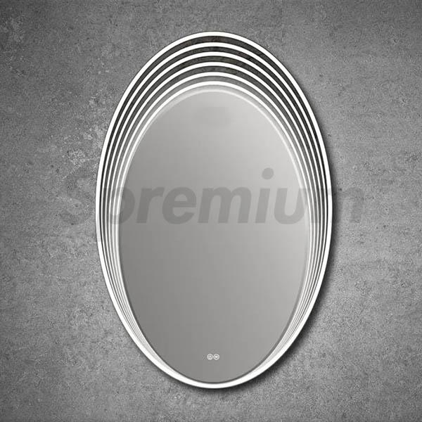 S 3250 Oval Vanity Mirror With Led Lights Hangzhou Spremium Bathroom Co Ltd