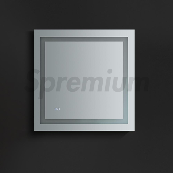 S-3066 Square Led Demister Bathroom Mirror With Touch Switch On/Off