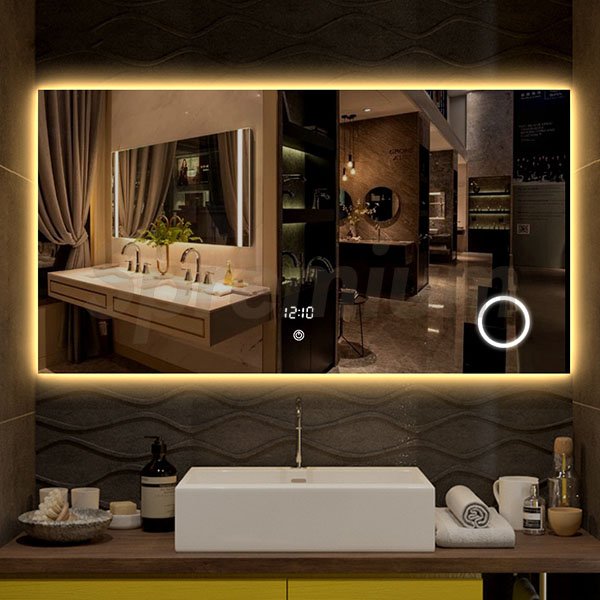 S-3616 China Illuminated Bathroom Mirrors with Built In Magnifying Mirror
