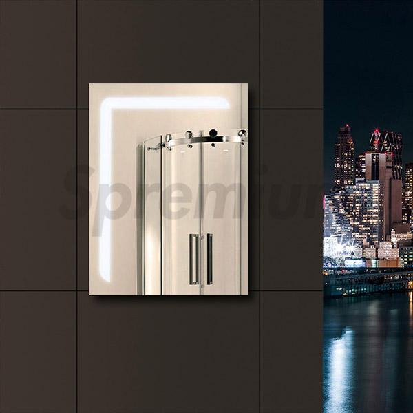 S-4608 Backlit Vanity Bathroom LED Mirror with Touch On and Off
