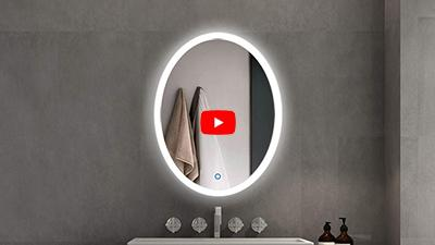 S-4600 Oval Illuminated Bathroom Mirror with Touch Switch